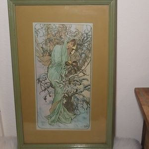 Vintage Windsor Art, Aphonse Mucha's Four Seasons